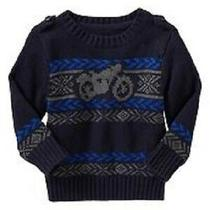 Euc Baby Gap Boys Men's Club Blue & Gray Motorcycle Sweater Size 4t 4 Vhtf Photo