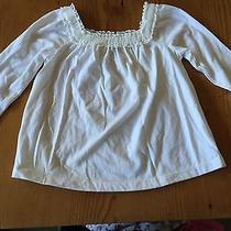 Euc Baby Gap Girl's Ivory Tulle Trimmed Shirt 4t Worn 1x Photo