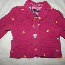 Euc Baby Gap Girls 2t  Pink Floral Embroidered Blazer Jacket Fall Darling Photo