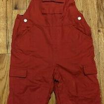 Euc Baby Gap Toddler Boys Unisex Red Cotton Lined Overalls Size 12-18 Months Photo