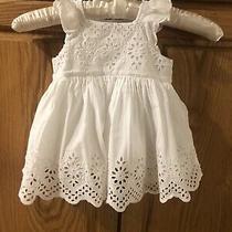 Euc Baby Gap White Eyelet Lined Dress 6-12m Photo