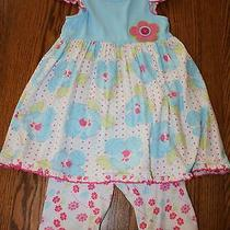 Euc Baby Lulu 2 Pc Outfit 4 4t Girls High End Boutique Excellent Used Condition Photo