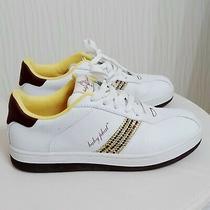 Euc Baby Phat Phab Max White Yellow Rhinestones Sneakers Size 8.5 Photo