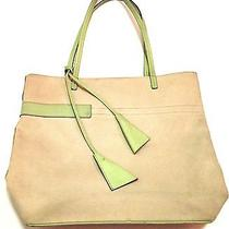Euc Ballys Women's Canvas With Green Leather Trim 14