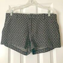 Euc Banana Republic Size 6 Black W/diamond Print Short Shorts Photo