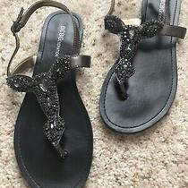 Euc Bcbg Embellished Thong Sandals Size 9 Photo