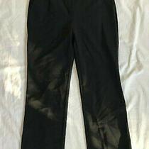 Euc Black Escada Straight Leg Pants Size 38 Photo