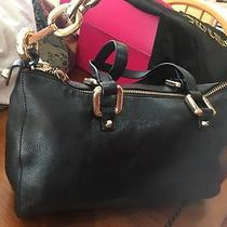 Euc Black Leather Daydreamer Juicy Couture Bag Hobo Shoulder Tote Photo