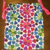 Euc  Brighton  Small Multi Colored Hearts Collectiable Jewelry Bag Pouch Photo