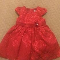 Euc Camilla Infant Toddler Red Metallic Holiday Party Dress 24 Month  Photo