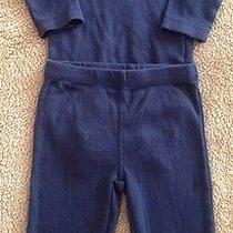 Euc Carter's Baby Boys 2 Piece Navy Blue W/ Red Car Outfit Size 3 Months Photo