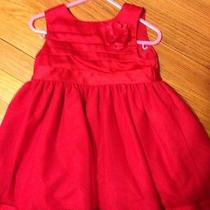 Euc Carter's Babyinfant Girls Red Dress Christmasholiday 24mo Dressy Photo