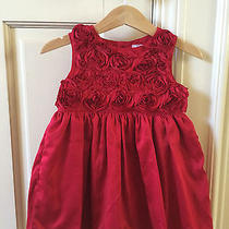 Euc Carter's Red Holiday Dress 18 Mo Photo