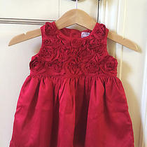 Euc Carter's Red Holiday Dress 3 Mo Photo