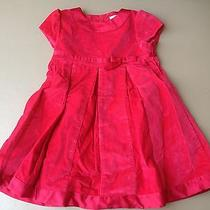 Euc Carter's Red Holiday Velvety Corduroy Dress Size 24 Months Photo