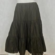Euc Club Monaco Skirt Midi Brown Women Cotton Sz S Photo
