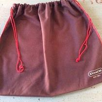 Euc Coach Brown 16 X 13 Drawstring Dust Cover Bag  Photo