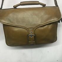 Euc Coach Leather Messenger Laptop Bag Photo