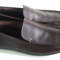 Euc Coach Men's Mahogany Leather Shoes/mocassins- Sz 9 D/near Mint Condition Wow Photo