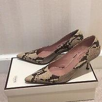 Euc Coach Python Embossed Leather Pointy Toe Pumps Sz 6.5 With Box Photo