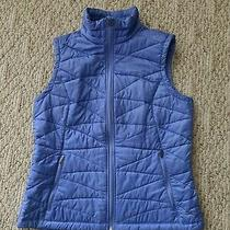 Euc Columbia Women's Omni Heat Puffer Vest Color Blue Sz Medium M Omni Shield  Photo