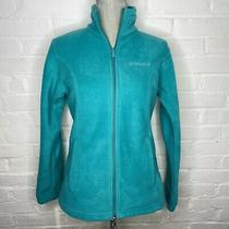Euc Columbia Womens Size Small Turquoise Full Zip Mid Weight Fleece Jacket Photo