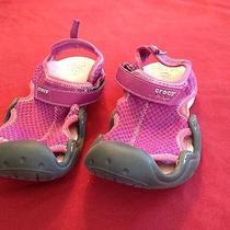 Euc Croc Water Shoes Pink Size J2 Photo