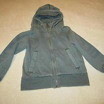 Euc Designer Diesel Zip Up Hoodie Gray Sweatshirt Jacket Boys Clothes Size 5 Photo