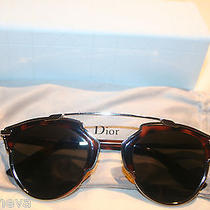 Euc Dior So Real Havana Mirrored Lens Sunglasses Authentic Photo