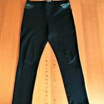 Euc- Dkny Jeans- Size Large- Black Dress Ankle Jeggings Photo