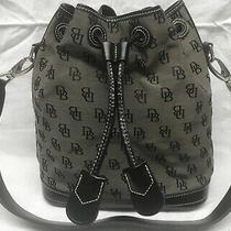 Euc Dooney & Bourke Inc. Canvas Medium Shoulder Bag Gray-Black 10x5x11 Strap 13 Photo