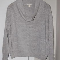 Euc Eileen Fisher Drape / Cowl Neck 100% Cotton Sweater Top Gray Xl Photo
