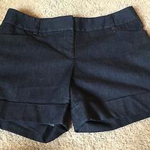 Euc Express Dress Shorts Sz 2 Dark Denim Like Colored Cute Favorite Work Photo