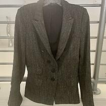 Euc Express Lined Herringbone/tweed 2 Button Blazer Size 10 Photo