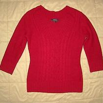 Euc Express Red Cable Knit Sweater Photo