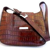 Euc Fossil Brown Leather Adjustable Strap Bag Purse 1954 Collection Photo