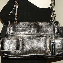 Euc Franco Sarto  Black Leather & Microfiber  Handbag/purse. Photo