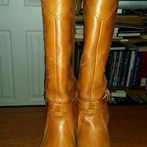 Euc Frye Leather Boots Size 8.5 in Cognac Photo