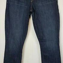 Euc Gap 1969 Real Straight Womens Denim Jeans Stretch 29/8 Dark Wash W32