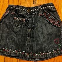 Euc Gap Baby Girl Embroidered Denim Jean Skirt Size 6-12 Months Photo