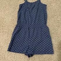Euc Gap Blue and White Polka Dots Romper Toddler Size 4 Years Photo