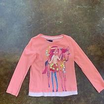 Euc Gap Girls Long Sleeve Horse Shirt Pink Size Xs 4 5 Photo