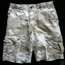 Euc Gap Kids Boys Camo Cargo Shorts Size 12 Khaki Photo