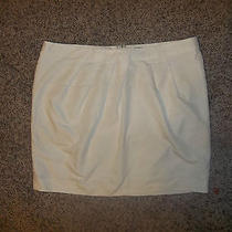 Euc Gap Mini Skirt Cream Nice Holiday Items Size 14 Photo