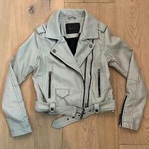 Euc Girl's Blanknyc Faux Leather Moto Jacket Beige/grey Size M Rrp98 Photo