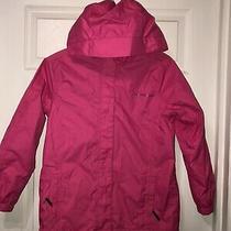 Euc Girl Vineyard Vines Pink Logo Zipper Raincoat Jacket - Girl's Large 12-14 Photo