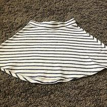 Euc Girls Gap Kids white& Navy Striped Skirt Size Xs 4-5 Photo