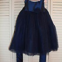 Euc  Girls Navy Camilla Special Occasion/wedding/party Dress Size 2t Photo