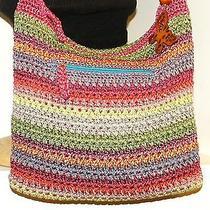Euc Gorgeous the Sak  Red/multi Stripe Crochet Knit Purse/handbag. Photo
