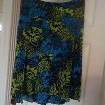Euc Grace Elements Floral Summer Skirt Size 10 Photo